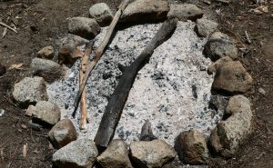 Campfire ashes