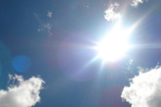 Blazing hot sun